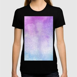 Blue Purple Aquarelle Wash T-shirt