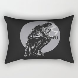 The thinker coffee Rectangular Pillow