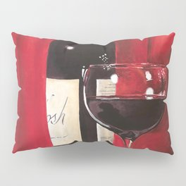 Red Wine, Still Life Pillow Sham