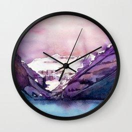 Coloful Lake Louise Wall Clock