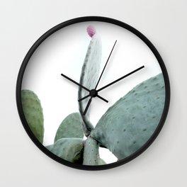 Mint Green Cactus Wall Clock