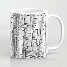 Birches ink drawing Coffee Mug