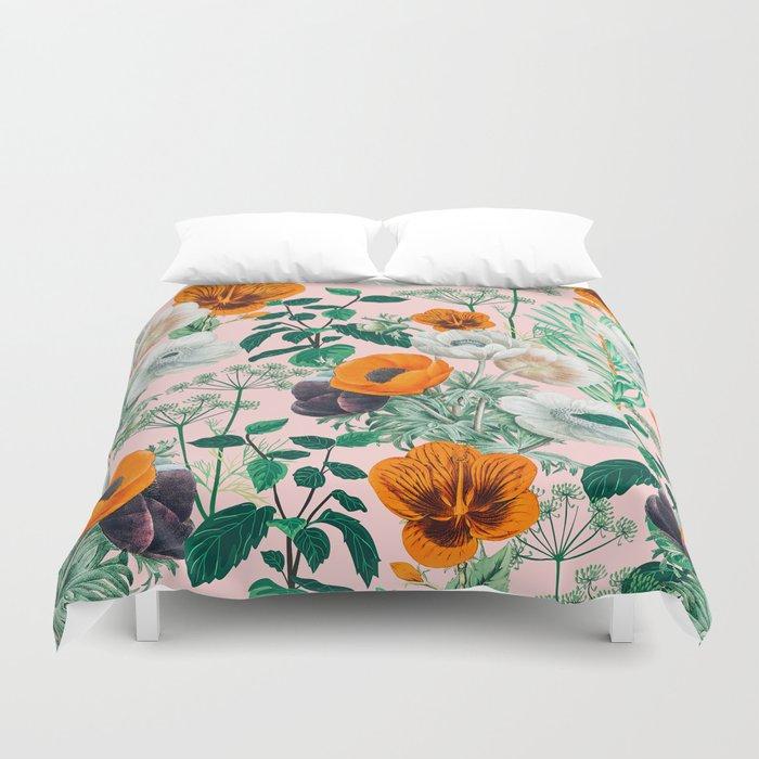 Wildflowers #pattern #illustration Duvet Cover