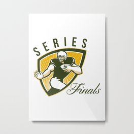 American Football Series Finals Shield Metal Print