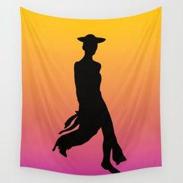 Fashion secret lady Wall Tapestry