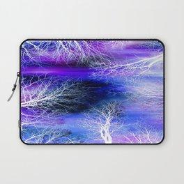 Midnight Trees Purple Blue Laptop Sleeve