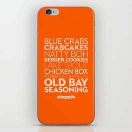 Baltimore — Delicious City Prints iPhone Skin