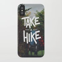 backpack iPhone & iPod Cases featuring Take A Hike by Zeke Tucker