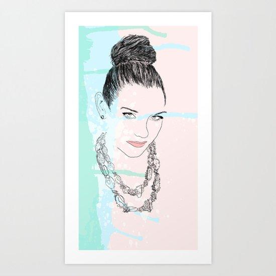 Doll Face Art Print