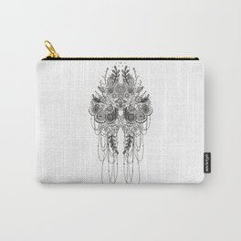 Black & White Lace Carry-All Pouch