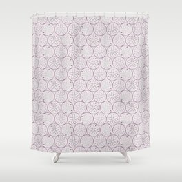 Sanddollar Pattern in Purple Shower Curtain