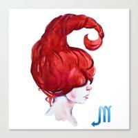 scorpio Canvas Prints featuring Scorpio by Aloke Design