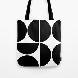 Mid Century Modern Black Square Tote Bag