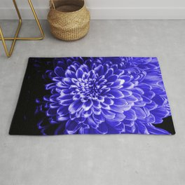 Blue Chrysanthemum Rug