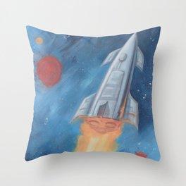 Rocket Fire Throw Pillow