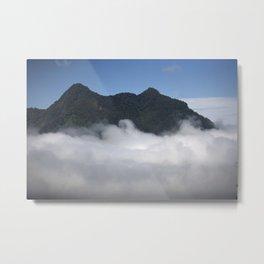 Cloudy Mountain Metal Print