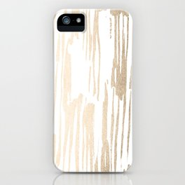 White Gold Sands Thin Bamboo Stripes iPhone Case