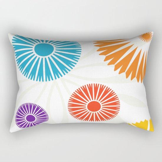 Spring Retro Flowers Rectangular Pillow