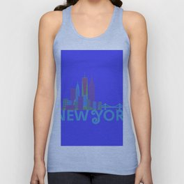 New York Colorful Skyline Unisex Tank Top