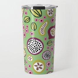 abstract fruit-salad green Travel Mug