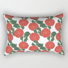 Red Dahlia Rectangular Pillow