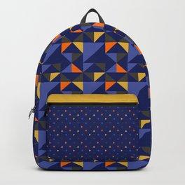 Retro Triangle Block Pattern 1 Backpack
