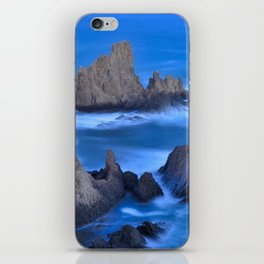 Blue sunset at the singing Mermaid Reef iPhone Skin
