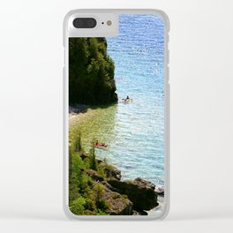 Lions Head Kayakers Clear iPhone Case