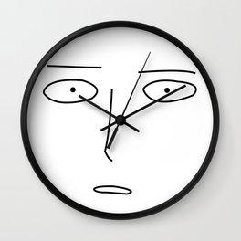 Anime Hero Face Inspired Shirt Wall Clock