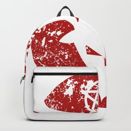 Abstract Hollow Gothic Devilish Horns Backpack