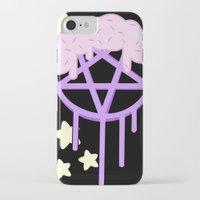 pentagram iPhone & iPod Cases featuring sugar coated pestel pentagram  by Pastel Planet