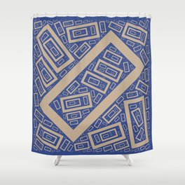 Rectangle Pattern Shower Curtain