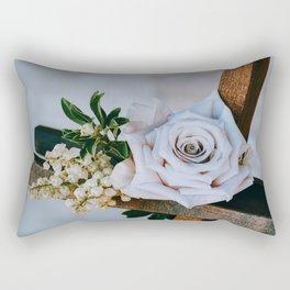 Rose on the Cross (Color) Rectangular Pillow