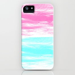 Summer Brushstrokes painting boho modern minimal abstract neon painting cool beach socal vibe iPhone Case