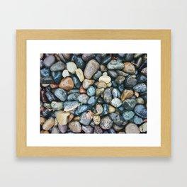 Sea Pebbles Framed Art Print
