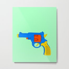 Colorful Toy Revolver Metal Print