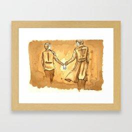 Johnlock in Coffee Framed Art Print