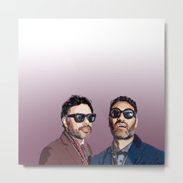 Jemaine and Taika 2 Metal Print