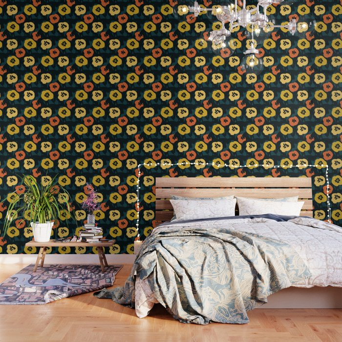 Midnight Flowers Wallpaper