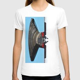 Vintage Blue Typewriter T-shirt