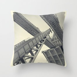 Tower Bridge 02D (19th Century) Throw Pillow