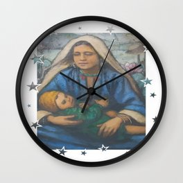 Mother and Child 2 Wall Clock