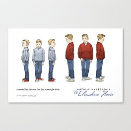 No.3 character designs for the Handlen boys, color Canvas Print