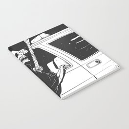 Passenger taxi grim - black and white - gothic reaper Notebook