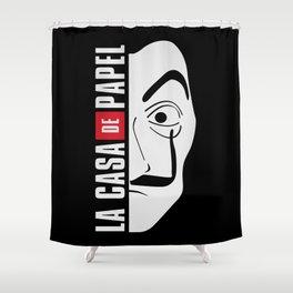 LA CASA DE PAPEL MASK Shower Curtain