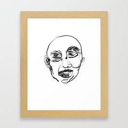 FACES / 007 Framed Art Print
