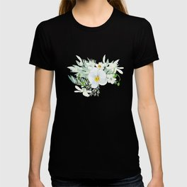 White Orchid Series: Orchid and Eucalyptus T-shirt