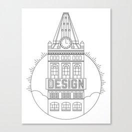 Oakland is Design (Black) Canvas Print
