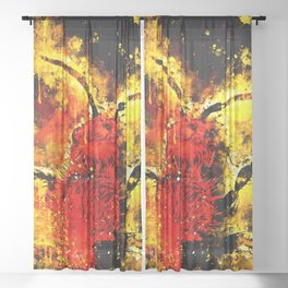 velvet ant wasp dasymutilla ws Sheer Curtain