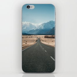Road to Mt Cook, New Zealand iPhone Skin